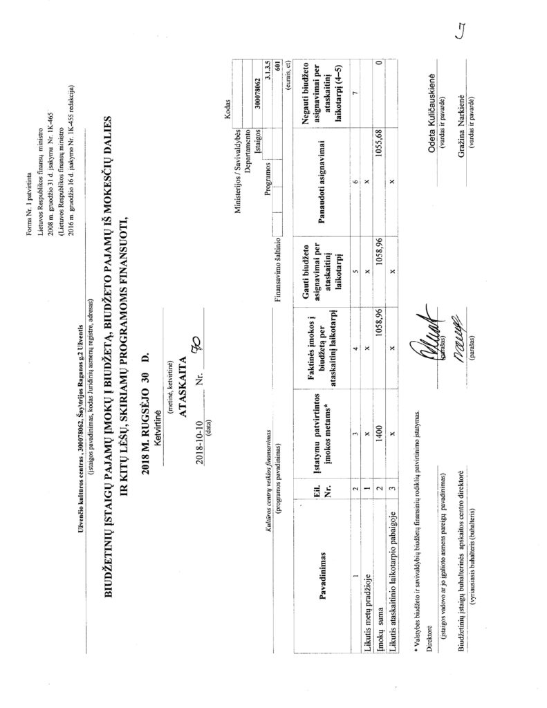 IV ketvirčio finansinė ataskaita
